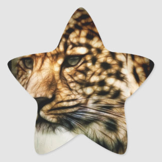 Cheetah Star Stickers