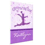 Cheetah Stripe Gymnastics Canvas (Small) Canvas Print