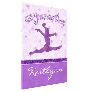 Cheetah Stripe Gymnastics Canvas (Small) Gallery Wrap Canvas