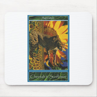 Cheetah Sunflower Sustain Yourself Cards Mousepad