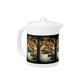 Cheetah Teapot