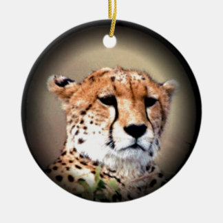 Cheetah Tear Marks Hakunamatata.png Double-Sided Ceramic Round Christmas Ornament