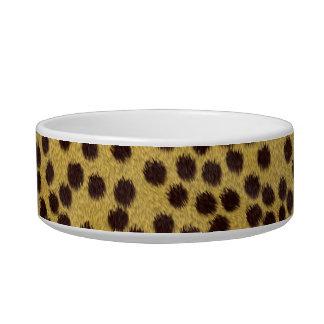 Cheetah texture bowl