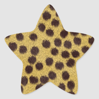 Cheetah texture star sticker