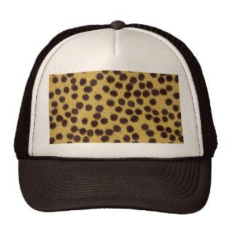 Cheetah texture trucker hat