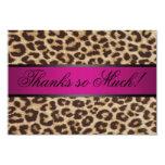 Cheetah thank you card