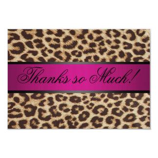 Cheetah thank you card custom invites