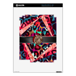 Cheetah Tiger Abstract Decals For iPad 2