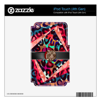 Cheetah Tiger Abstract iPod Touch 4G Decal