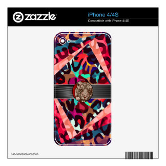 Cheetah Tiger Abstract Skins For iPhone 4