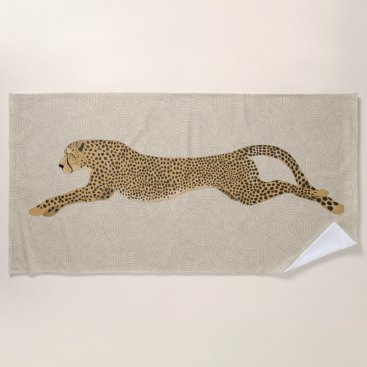 Beach Themed Cheetah Towel
