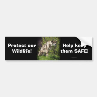 Cheetah Wild Cat Animal-Lover Bumpersticker Bumper Sticker