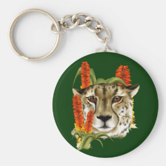 Cheetah with Aloe Keychain