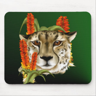 Cheetah with Aloe Mousepad