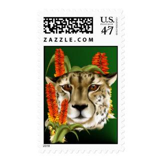 Cheetah with Aloe Postage