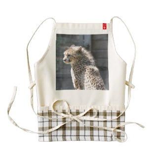 cheetah zazzle HEART apron
