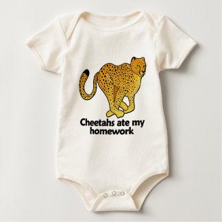Cheetahs ate my homework baby bodysuit