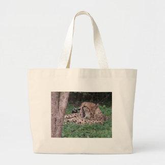 Cheetah's breath canvas bag