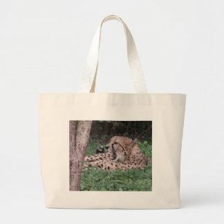 Cheetah's breath tote bags