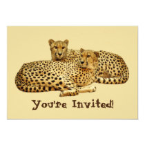 Cheetahs Invitation