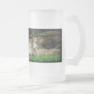 Cheetahs Lounging Grunge Mug