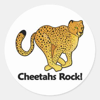 Cheetahs Rock! Classic Round Sticker