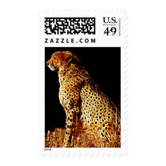 Cheetahs stance postage