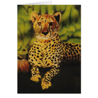 """Cheetha"" Greeting Card"