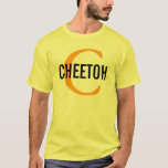 Cheetoh Cat Monogram Design T-Shirt