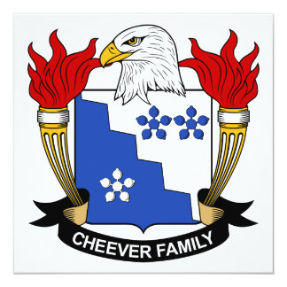 Cheever Family Crest Card