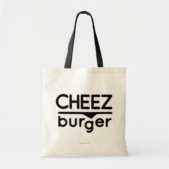 Cheezburger Logo (black) Tote Bag