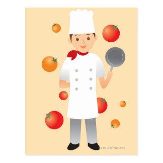 Chef 2 postcard