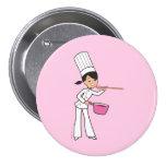 Chef 3 Inch Round Button
