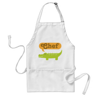 Chef Alligator Cooking Gift Adult Apron