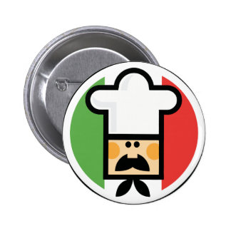 Chef and Flag Of Italy Pin