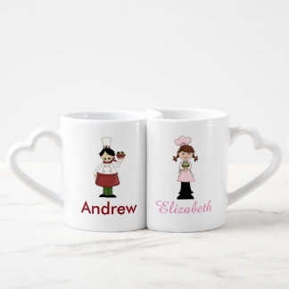 Chef and Pastry Chef Couples Mug Set