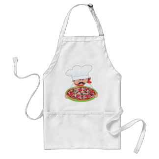 Chef and Pizza Adult Apron