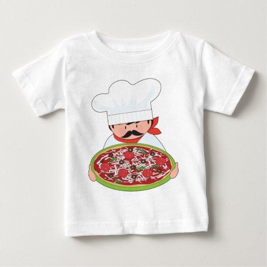 0deedd40f60 Chef and Pizza Baby T-Shirt   Zazzle.com