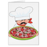 Chef and Pizza Greeting Cards