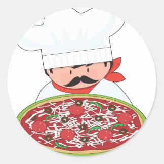 Chef and Pizza Sticker