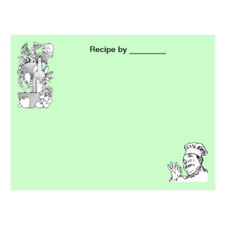 Chef Approved Food Recipe Blank Card