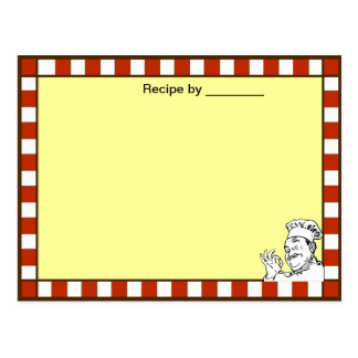 Chef Approved Recipe Blank Card