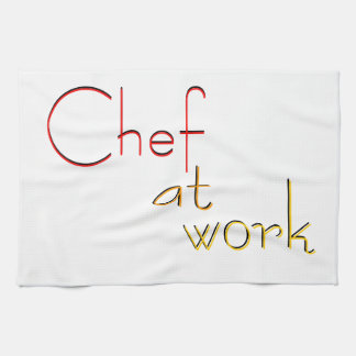 Chef at work hand towel