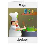 Chef at Work, Happy, Birthday Card