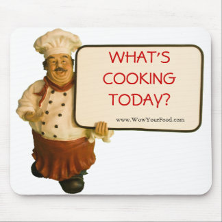 Chef Augie Asks What's Cooking Today Mouse Pad