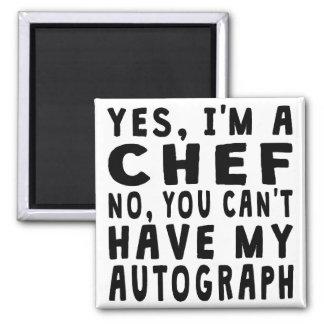 Chef Autograph 2 Inch Square Magnet