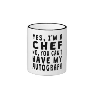 Chef Autograph Ringer Coffee Mug