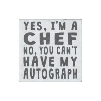 Chef Autograph Stone Magnet