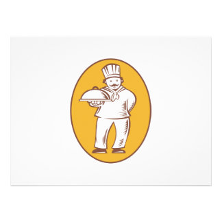 Chef Baker Cook With Platter Personalized Invitation