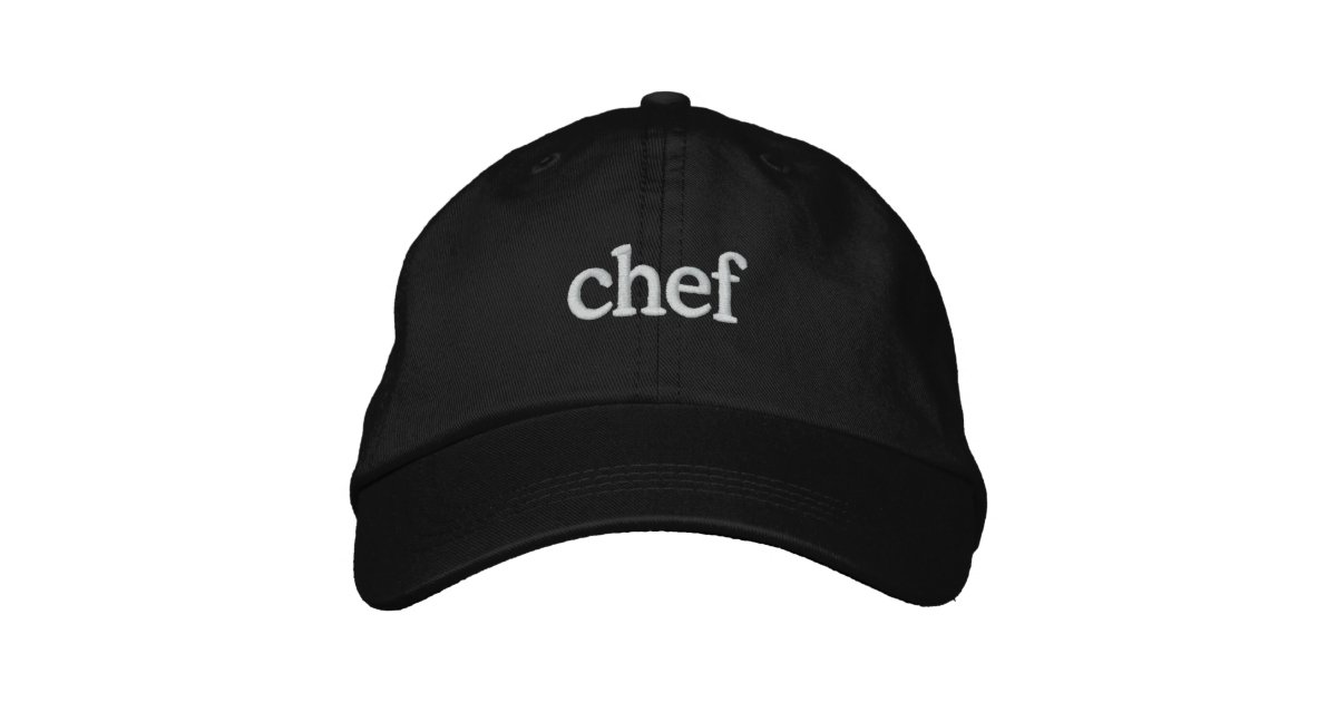 chef basic embroidered black cap template le baseball cool caps works vent